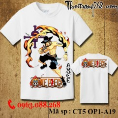 Áo thun One Piece ace CT5 OP1-A19