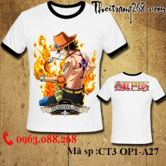 Áo thun One Piece ace CT3 OP1-A27