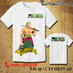 Áo thun One Piece zoro CT5 OP37-A5