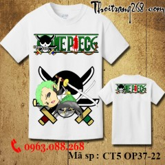 Áo thun One Piece zoro CT5 OP37-22