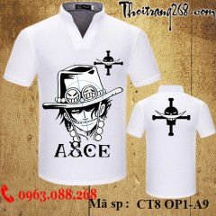 Áo thun One Piece ace CT8 OP1-A9
